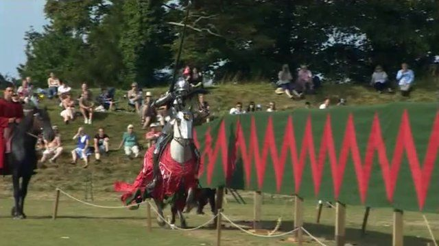 Knight goes jousting