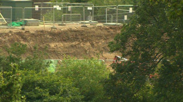 Reservoir being built