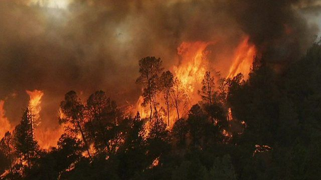 Wildfires in Stanislaus National Forest
