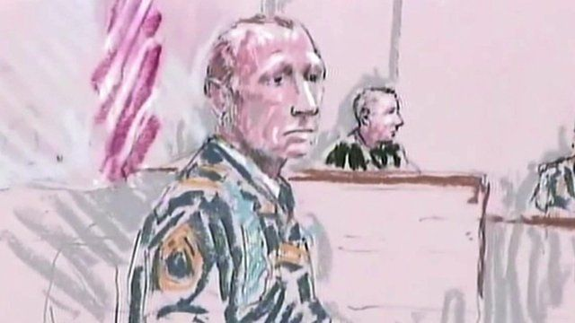 Court image of Robert Bales