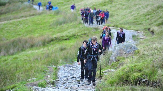 Gwynedd scouts ascend Mount Snowdon