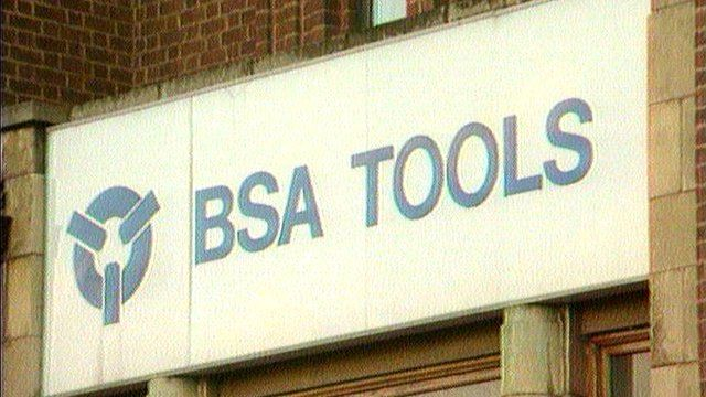 BSA factory sign