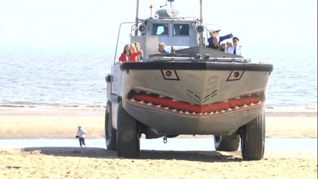 Amphibious craft which crossed The Wash