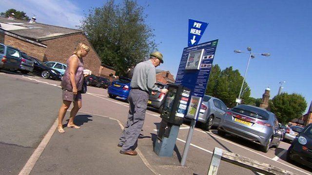Parking meter in Banbury