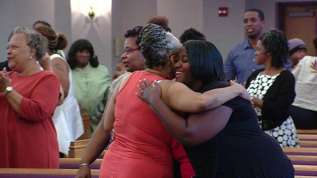 Worshippers in church