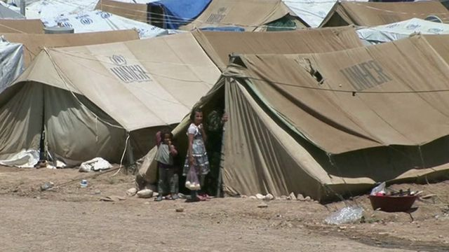 UN refugee camp