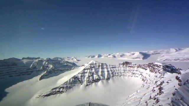 Greenland glaciated mountain range