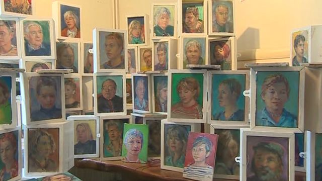 Grahame Hurd-Wood is painting portraits of all the residents of St Davids
