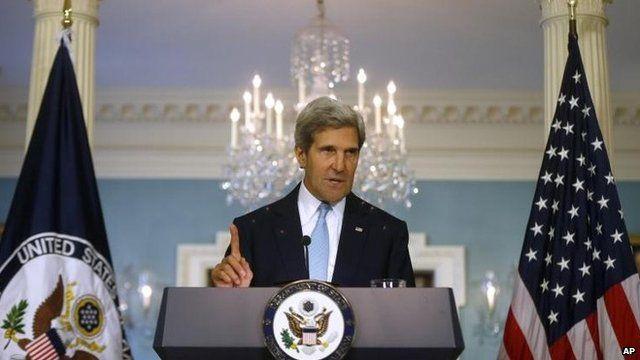 John Kerry speaking on 30 August
