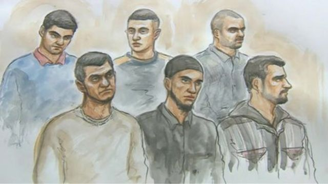 The six men, aged 20 to 39, all pleaded guilty at Leicester Crown Court