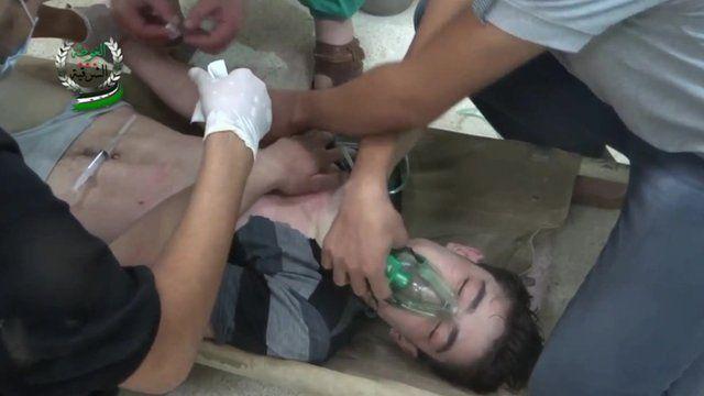 Claf yn Syria