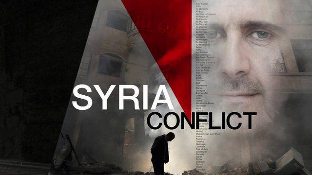 'Syria Conflict' graphic