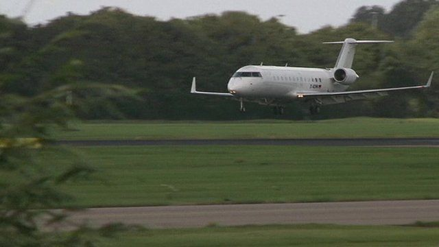 Plane carrying UN weapons inspectors arrives in the Netherlands
