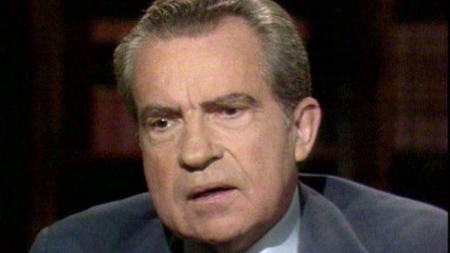 Former US President Richard Nixon
