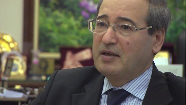 Syria's deputy foreign minister, Faisal Mekdad