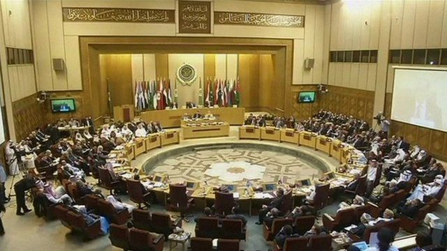 Arab foreign ministers at a meeting in Cairo