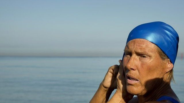 Diana Nyad shortly before starting the swim