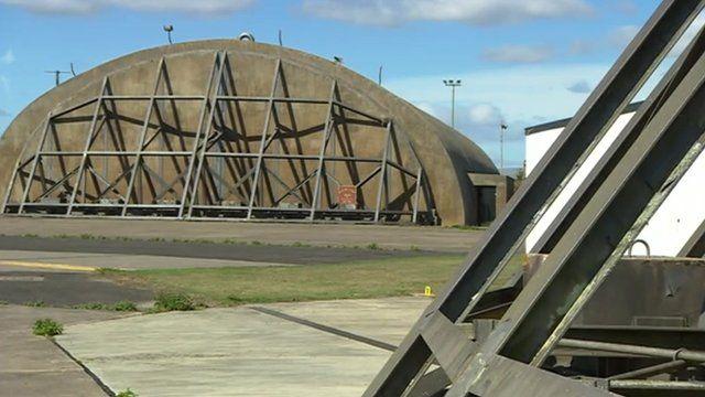 Former American airbase at Upper Heyford