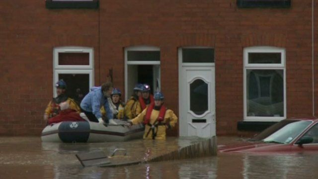 The flooding in Ruthin