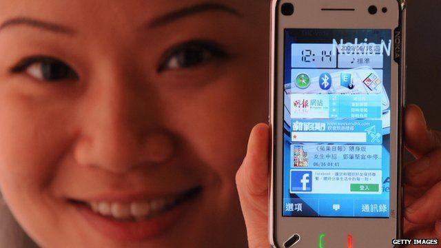 Nokia handset in China