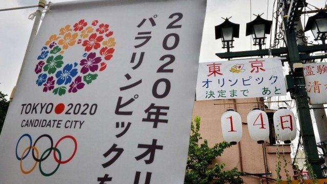 Poster for Tokyo's Olympic bid