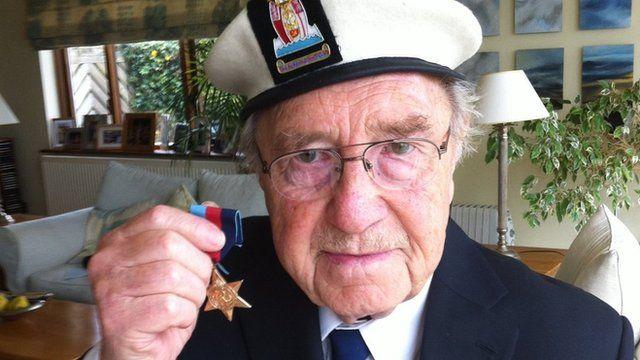 John Farrow with Arctic Star medal