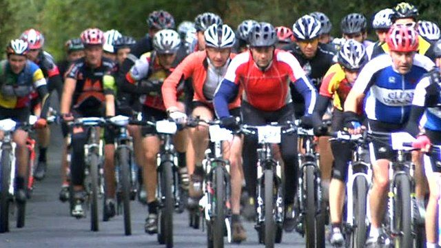 Over a thousand cyclists completed the challenge