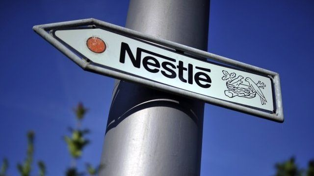 Nestle road sign near Swiss HQ