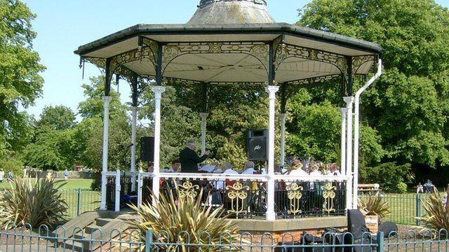 The 'David Bowie bandstand' in Beckenham
