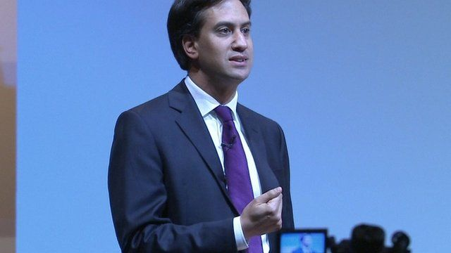 Labour leader Ed Miliband addresses the TUC congress