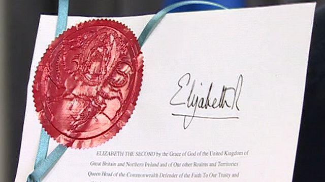 The legislation receives royal assent