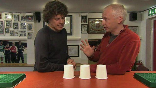 Marcus du Sautoy and Alan Davies