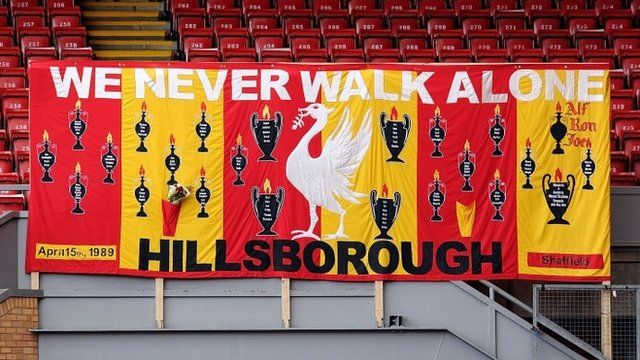 Hillsborough memorial banner