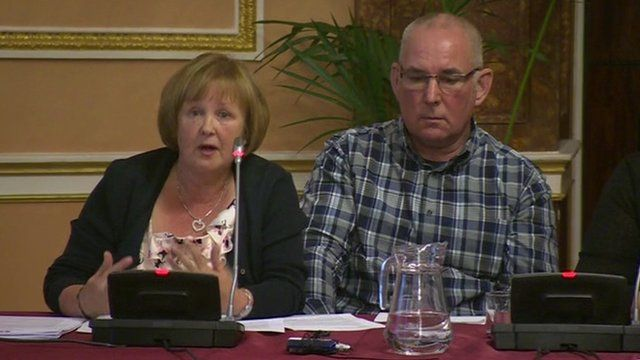 Anne Burkett and Danny Gordon, relatives of victims