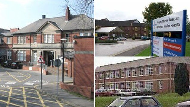 The worker was at Caerphilly District Miners Hospital (left) mainly but also spent time at Wrexham Maelor Hospital and East Glamorgan Hospital