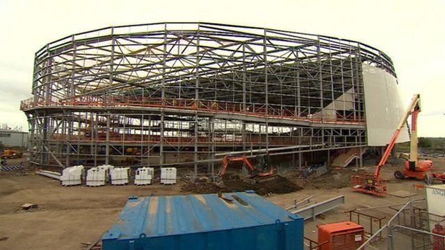 Derby's new indoor velodrome starts to take shape