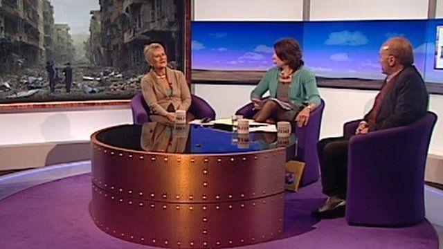 Pauline Neville-Jones, Jo Coburn and George Galloway