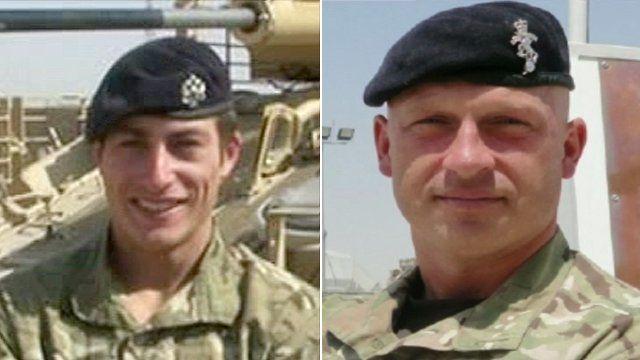 Trooper Robert Griffiths and Sgt Jonathan Kups