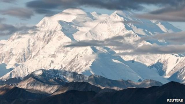 Mount McKinley 83ft shorter than previously thought