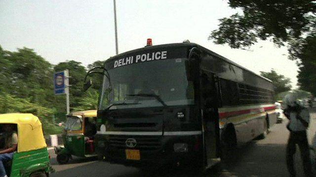 Delhi police bus