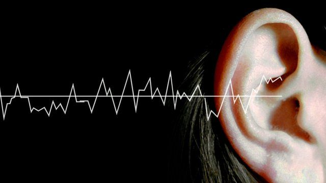 Image showing sound waves and a woman's ear