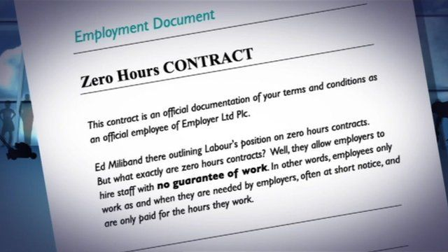 Zero hours contract graphic