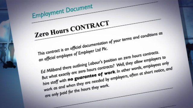 Zero hours contract graphic