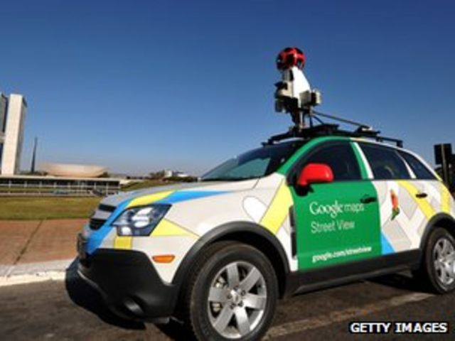 Google Street View car in 'accident'