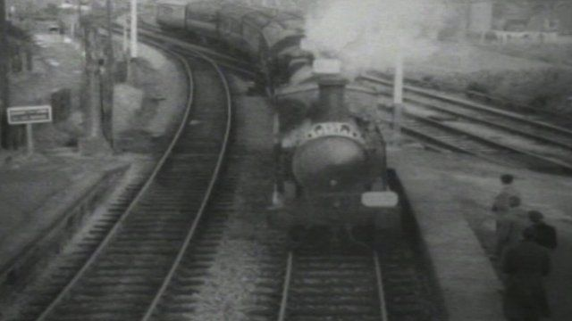 Locomotive on the old Heads of the Valleys line