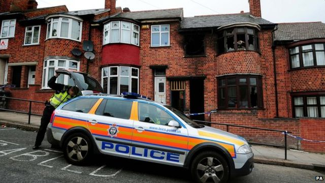 Leicester fire deaths: Five people questioned by police