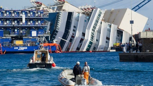 Engineers travel to the Costa Concordia