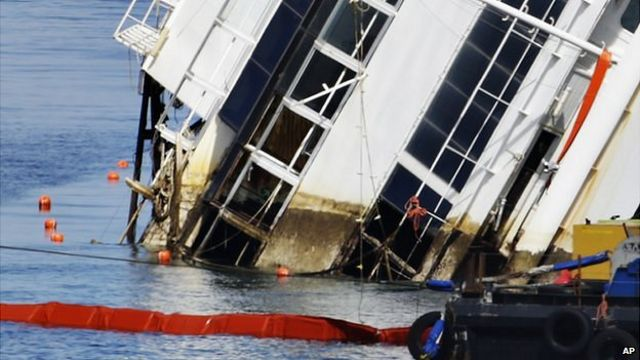 Costa Concordia in Italy freed from rocks