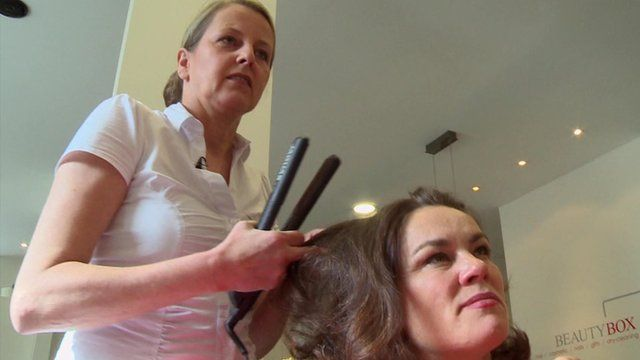 Monica on the left is a hairdresser.