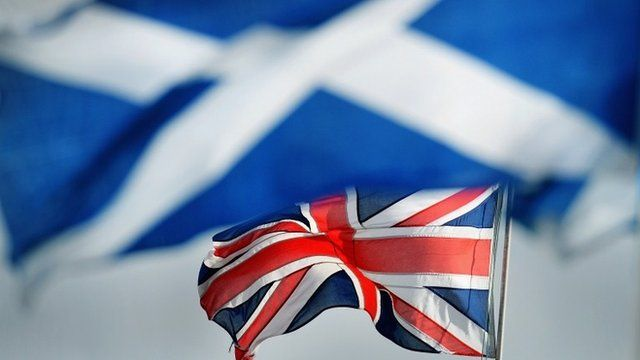 The Union Jack and the Saltire